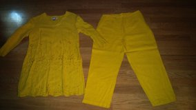 yellow pant set in The Woodlands, Texas