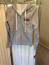 ***BNWT LSU Zip Up Grey Hoodie Jacket***SZ Medium in Conroe, Texas