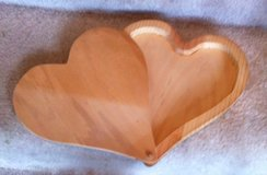 Large Hinged Heart Wooden Box in Houston, Texas
