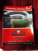Houston Astros opening day booklet and ticket stub in Houston, Texas
