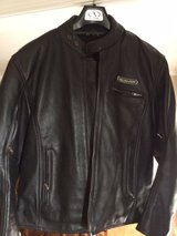 Leather motorcycle jacket, Large in Quantico, Virginia