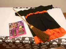 Child's Witch's Costume with Make-up and Broom in Joliet, Illinois