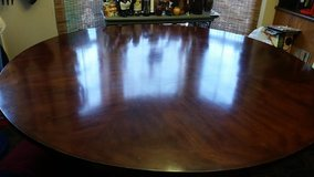 """Dark Wood Havertys 72 """" Contemporary Round Dining Table in Clarksville, Tennessee"""