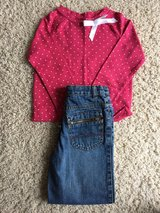 Girls Top/Denim Jeans-Size 4/4T in Westmont, Illinois