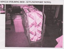 SINGLE FOLDING BED-NEW! (On the go/or need extra bed) in Fort Eustis, Virginia