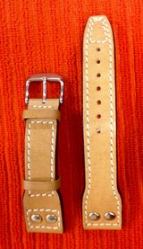 Buffalo Leather Marino Handmade Wristwatch strap like new in Okinawa, Japan