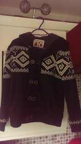 boys thick knitted  cardigan  with hood   lovely and warm age 10-11 gray in Lakenheath, UK