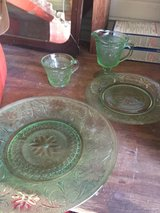 Green dishes in Houston, Texas