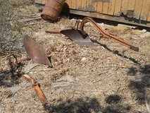 Vintage tractor plows in Alamogordo, New Mexico
