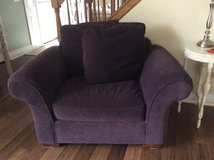 Oversized plum chair in Oswego, Illinois