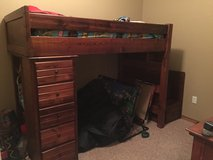 Loft bed with dresser in Lawton, Oklahoma