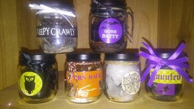 small Halloween glass jars in Spring, Texas