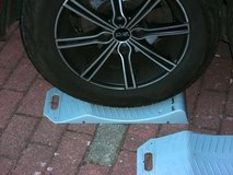 4x tire-protectors (tire-beds) stocking car over winter in Ramstein, Germany