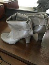 Slouch Grey Booties in Okinawa, Japan