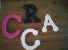 wood letters in The Woodlands, Texas