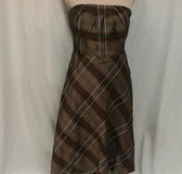 NWT Banana Republic sz 8 Strapless Plaid Dress Sundress Brown Black Lined $148 in Tomball, Texas
