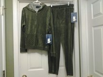 New - Hooded Velour Jacket & Pants - Green in Eglin AFB, Florida