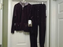New - Hooded Velour Jacket & Pants - Eggplant in Eglin AFB, Florida