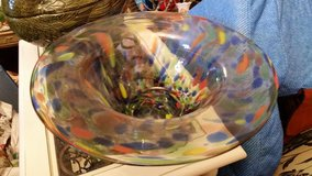 Blue / Orange Spotted Glass Bowl in Fort Campbell, Kentucky