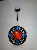 Red and blue. vintage belly ring in Camp Lejeune, North Carolina
