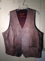 Brown Leather Vest in Moody AFB, Georgia