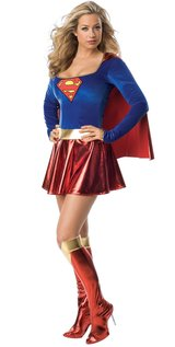 Supergirl Deluxe Adult Costume Size M in Columbus, Georgia