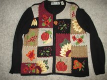Beautiful Women's Fall, Autumn Thanksgiving Zipper Sweater Size XL Great Condition! in Naperville, Illinois