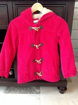 Girls Hanna Andersson Berry-Colored Corduroy Toggle Coat Size 7-9 in Glendale Heights, Illinois