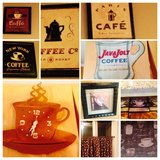 Coffee Cup Sign Kitchen Cafe Curtains Wall Decor Plaques Signs in Bartlett, Illinois