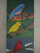 """TRIO OF BIRDS"" Acrylic in Beaufort, South Carolina"