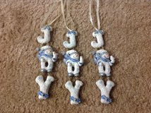 """JOY"" SNOWMAN CHRISTMAS ORNAMENTS in Camp Lejeune, North Carolina"