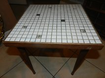 Vintage tile top table in Sandwich, Illinois