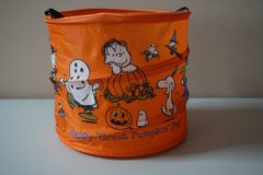 Charlie Brown The Great Pumpkin Collapsible Halloween Bag by Hallmark in Naperville, Illinois