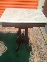 Antique Walnut Victorian Marble Tables in Cherry Point, North Carolina