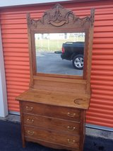 Oak Dresser Heavy Carved Mirror in Camp Lejeune, North Carolina