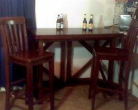 REDUCED! Mission Style Wood Stools in Conroe, Texas