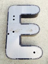 large vintage salvaged letter E in Naperville, Illinois