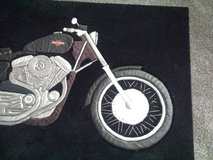 MOTORCYCLE RUG/Wall DECO~ ONE OF A KIND in Woodridge in Tinley Park, Illinois