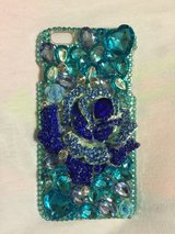 I phone 6+ crystals blue rose case in Leesville, Louisiana