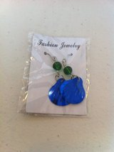 Earrings blue green in Ramstein, Germany
