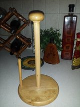 Wooden paper towel holder in Plainfield, Illinois