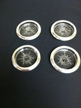 SILVERPLATE & GLASS COASTERS in Chicago, Illinois