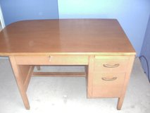 old oak desk in Yucca Valley, California