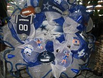 Mesh wreaths in Fort Bliss, Texas