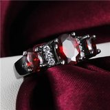NEW - Garnet and Black Ring - Size 7 in Alamogordo, New Mexico