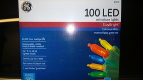 GE 100 LED Christmas Light String - 25 boxes available in Houston, Texas