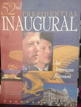 Official 1993 Clinton Gore AN AMERICAN REUNION Inauguration Poster in Fort Belvoir, Virginia