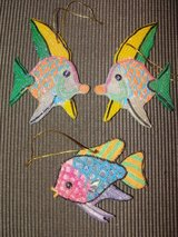 "CHRISTMAS ""SEA LIFE KISSING FISH"" GLITTER ORNAMENTS in Camp Lejeune, North Carolina"