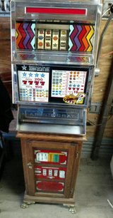 The Gambler - Vintage Slot Machine and Stand (Both Light) 25 cent in Baytown, Texas