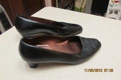 Womens Black Leather Shoes Size 7.5 -- Used in Kingwood, Texas